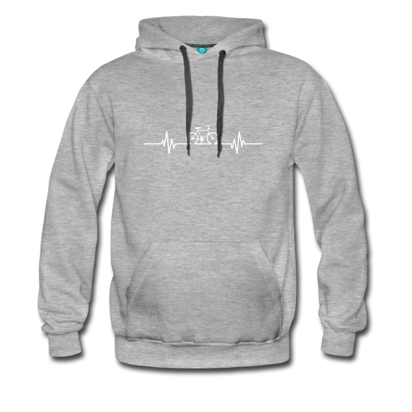 Love To Bike Unisex Hoodie - heather gray