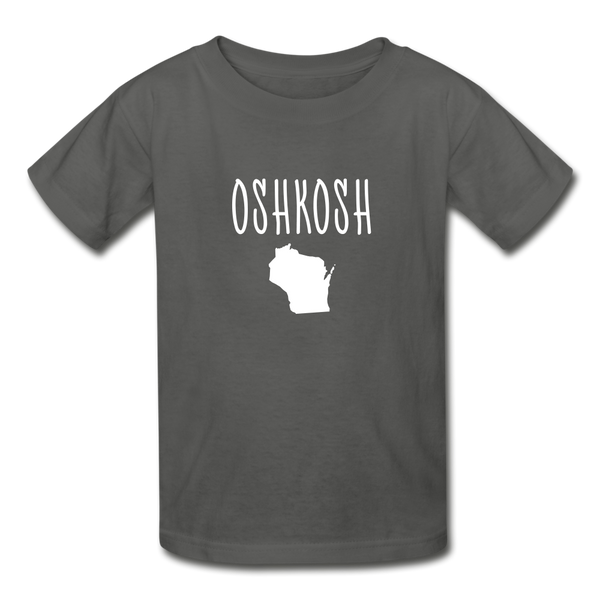 Oshkosh WI Youth T-Shirt - charcoal