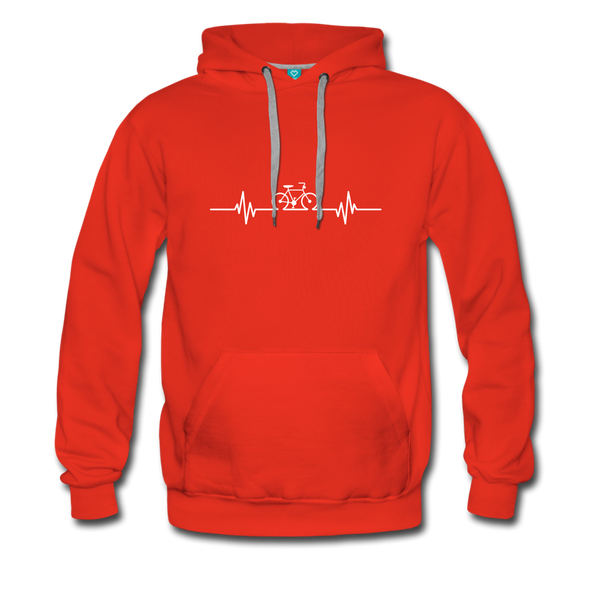 Love To Bike Unisex Hoodie - red