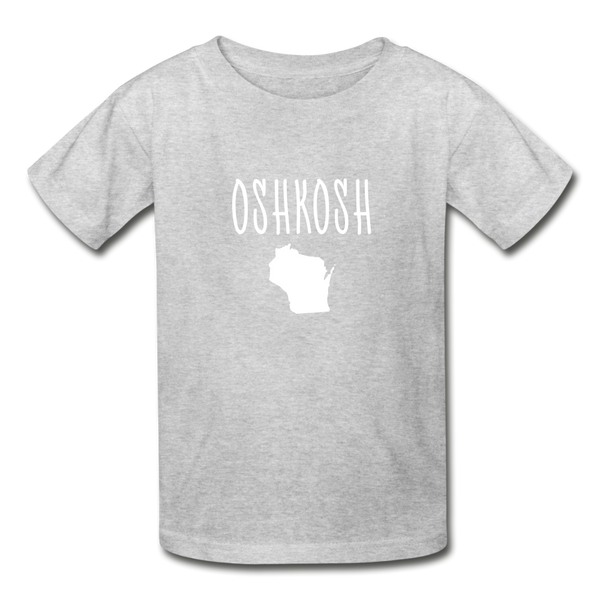 Oshkosh WI Youth T-Shirt - heather gray