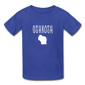 Oshkosh WI Youth T-Shirt - royal blue