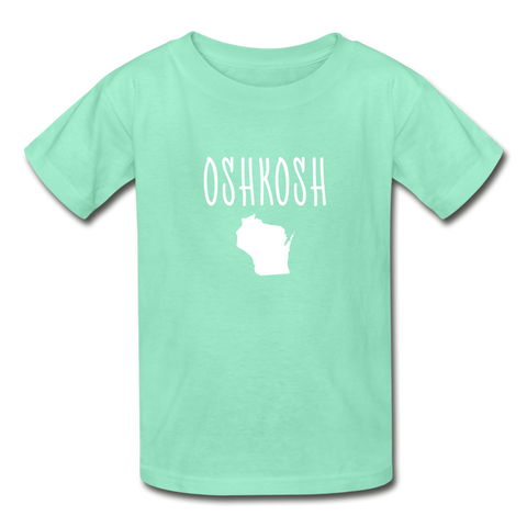 Oshkosh WI Youth T-Shirt - deep mint
