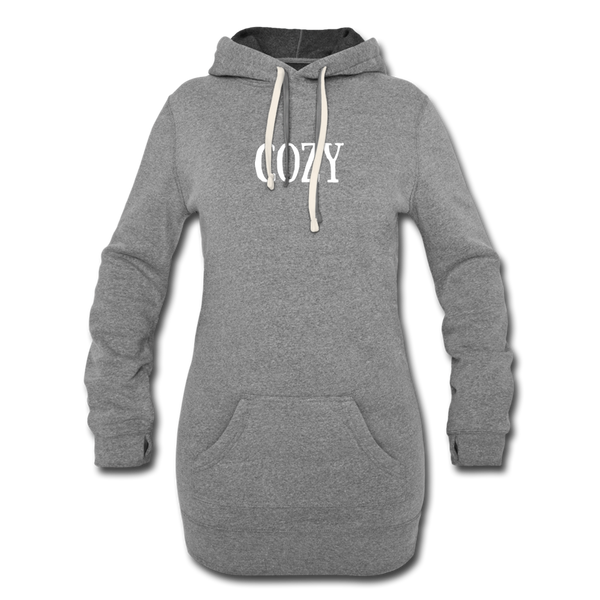 Cozy Long Hoodie - heather gray