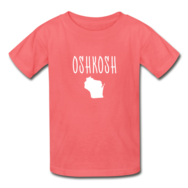 Oshkosh WI Youth T-Shirt - coral