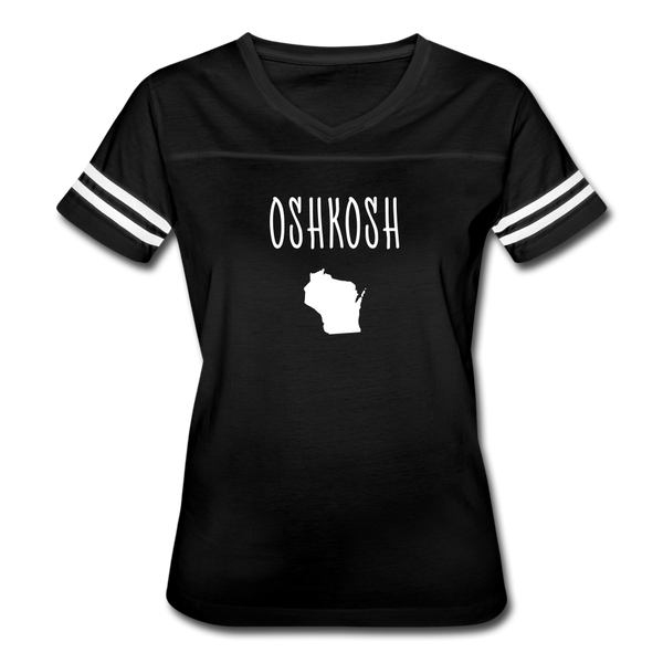 Oshkosh WI Women's Vintage Sport T-Shirt - black/white