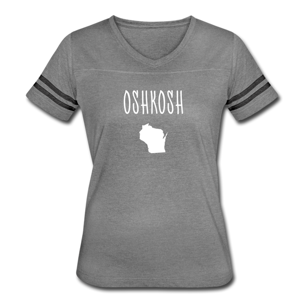 Oshkosh WI Women's Vintage Sport T-Shirt - heather gray/charcoal