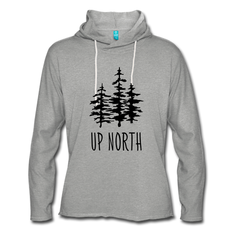 Up North Unisex Terry Hoodie - heather gray