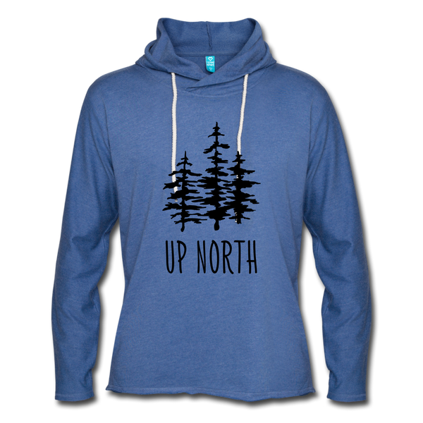 Up North Unisex Terry Hoodie - heather Blue