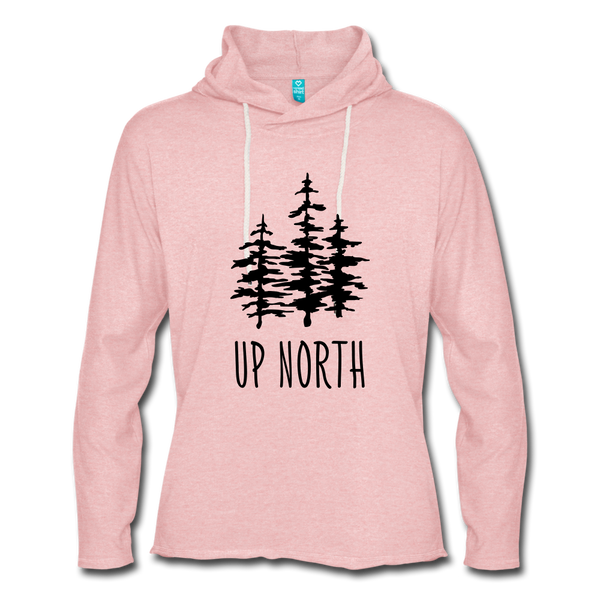 Up North Unisex Terry Hoodie - cream heather pink