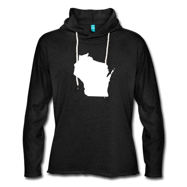 Wisconsin Unisex Lightweight Terry Hoodie - charcoal gray
