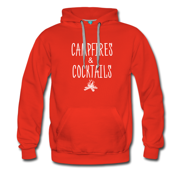 Campfires & Cocktails Men's Hoodie - red