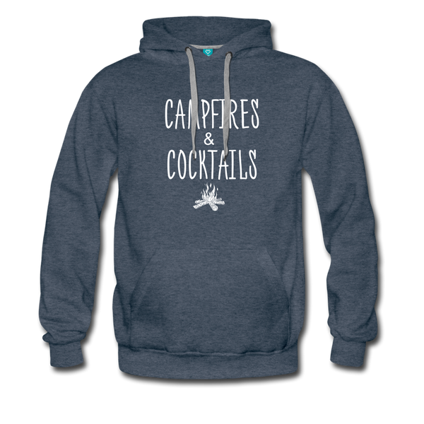 Campfires & Cocktails Men's Hoodie - heather denim