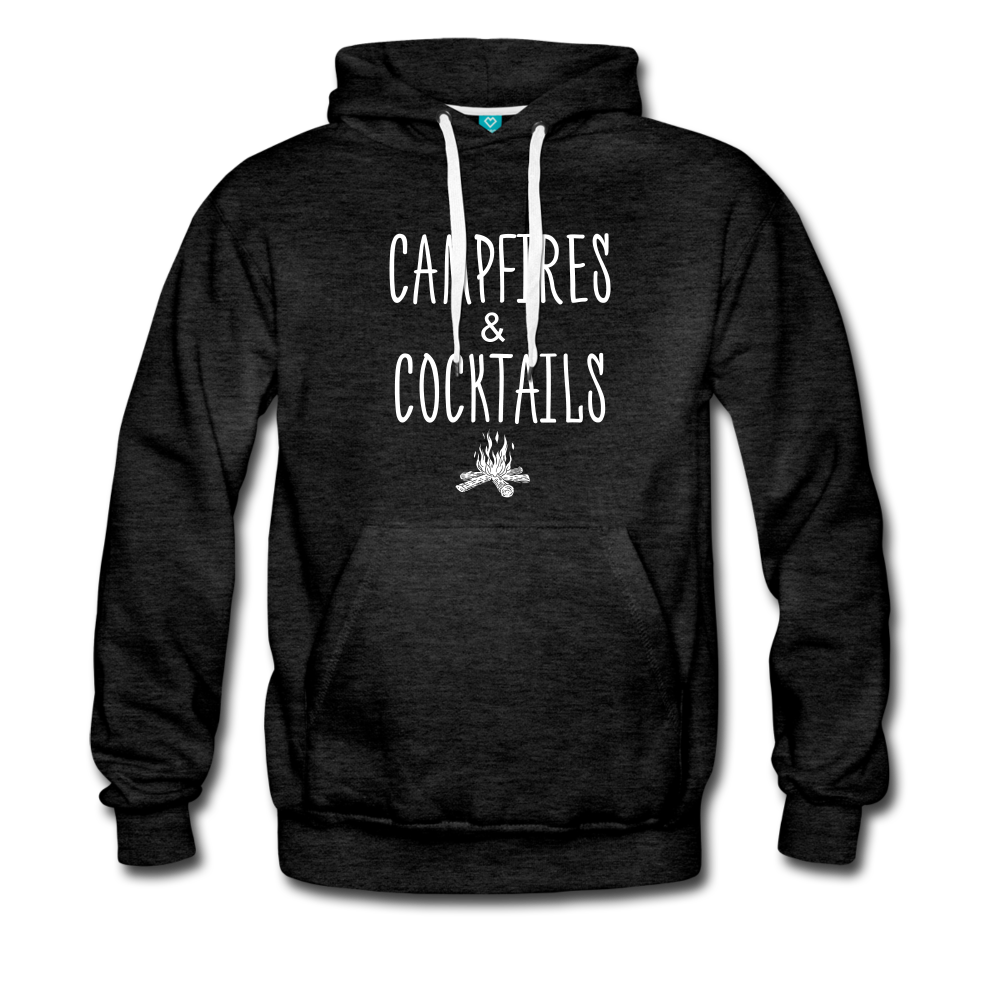 Campfires & Cocktails Men's Hoodie - charcoal gray