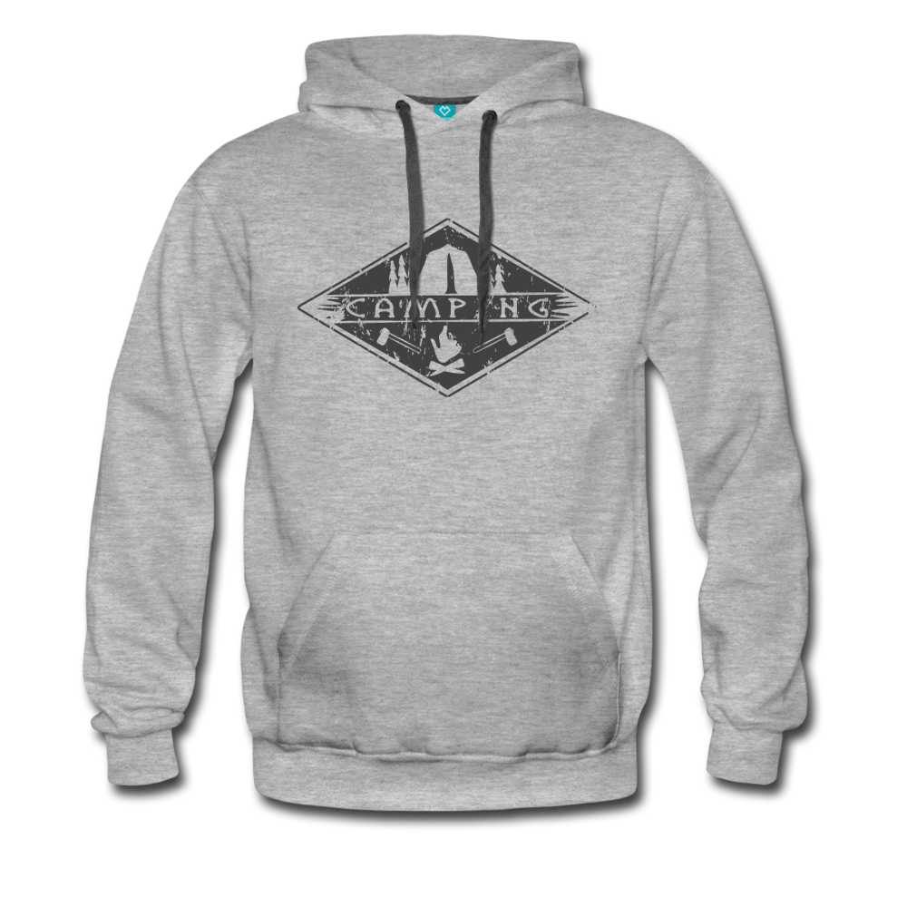 Camping Unisex Premium Hoodie - heather gray