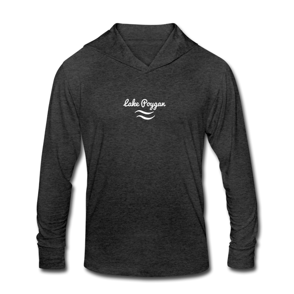 Lake Poygan  Unisex Tri-Blend Hoodie Shirt - heather black