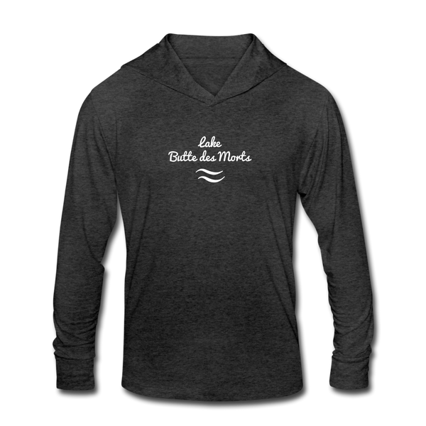 Lake Butte des Morts Unisex Tri-Blend Hoodie Shirt - heather black