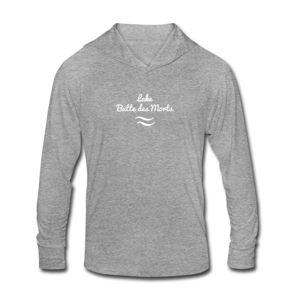 Lake Butte des Morts Unisex Tri-Blend Hoodie Shirt - heather gray