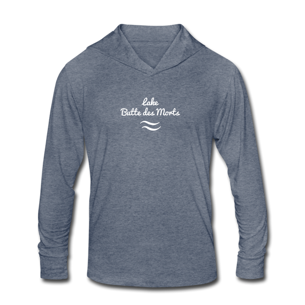 Lake Butte des Morts Unisex Tri-Blend Hoodie Shirt - heather blue