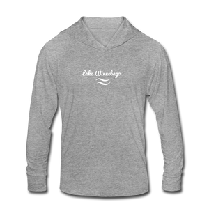 Lake Winnebago Unisex Tri-Blend Hoodie Shirt - heather gray
