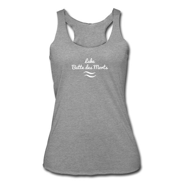 Lake Butte des Morts Tri-Blend Racerback Tank - heather gray