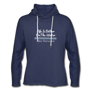 Lake Sherwood Unisex Lightweight Terry Hoodie - heather navy