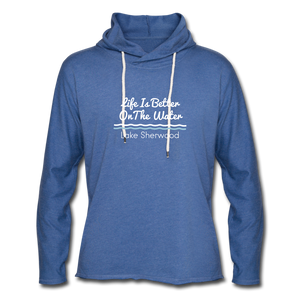 Lake Sherwood Unisex Lightweight Terry Hoodie - heather Blue