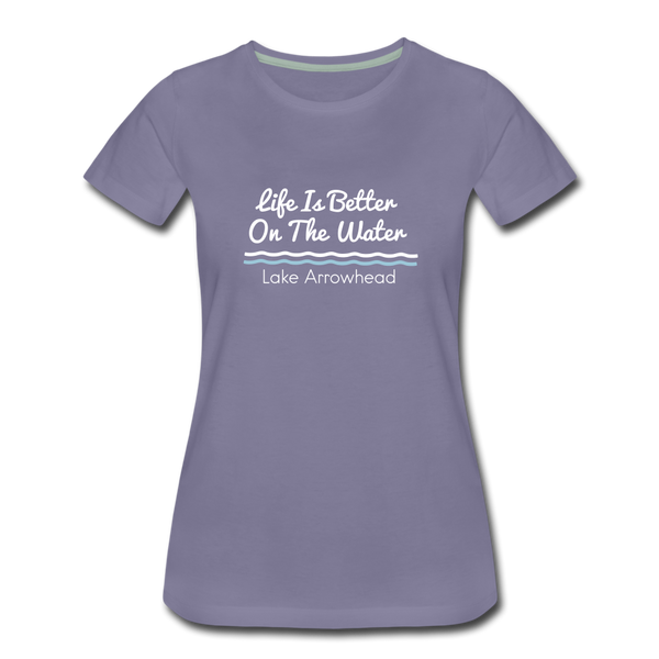 Life Is Better Lake Arrowhead Premium Tee - washed violet