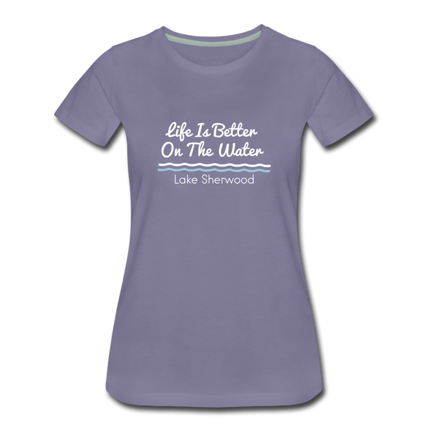 Life Is Better Lake Sherwood Premium Tee - washed violet