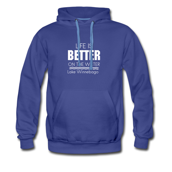 Life Is Better Lake Winnebago Men's Hoodie - royalblue