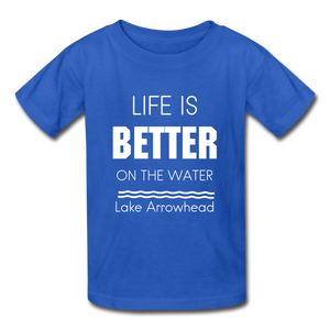 Life is Better Lake Arrowhead Youth Tee - royal blue