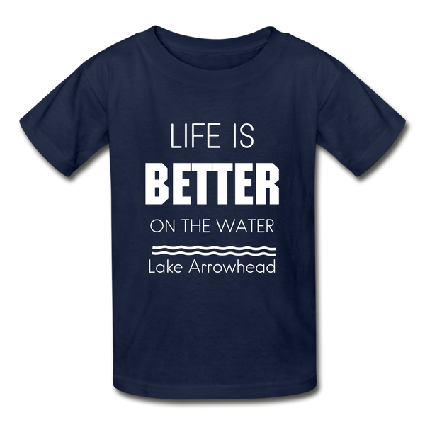 Life is Better Lake Arrowhead Youth Tee - navy