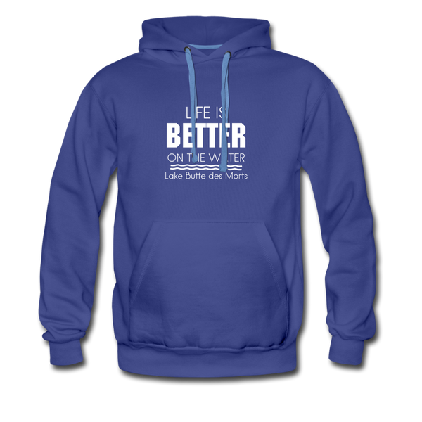 Life is Better Lake Butte des Morts Men's Hoodie - royalblue