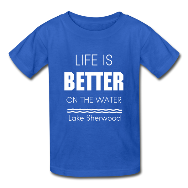 Life is Better Lake Sherwood Youth Tee - royal blue