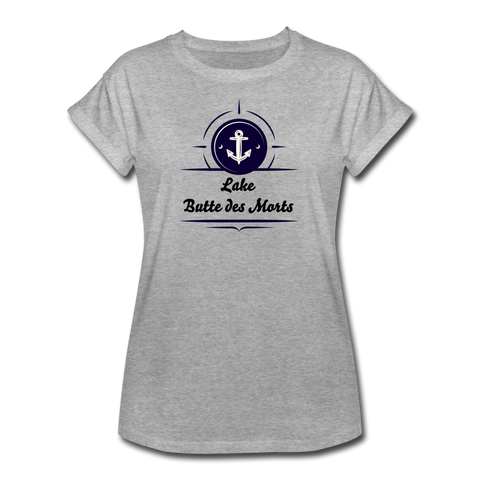 Anchor Lake Butte des Morts Women's Relaxed Fit Tee. - heather gray
