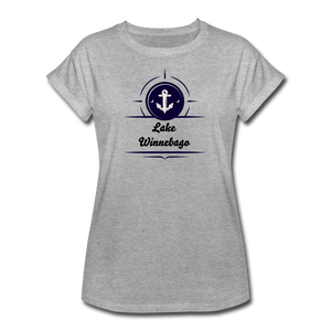 Anchor Lake Winnebago Women's Relaxed Fit Tee - heather gray
