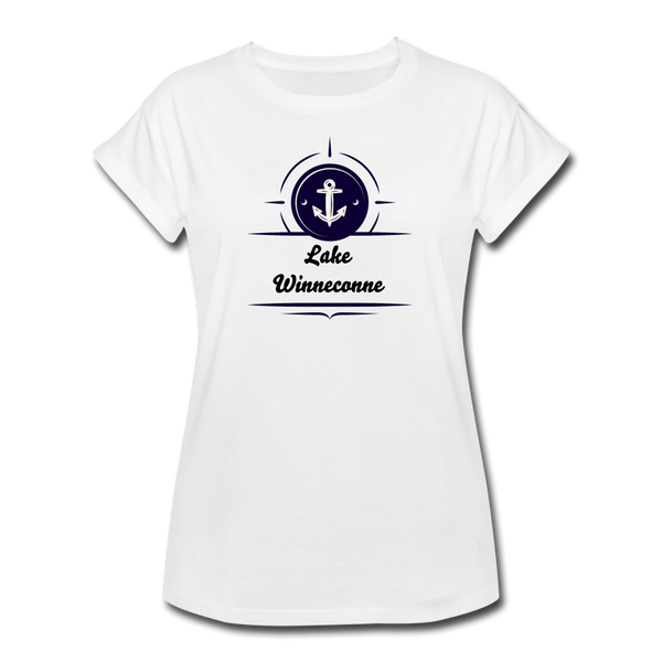 Anchor Lake Winneconne Women's Relaxed Fit Tee - white