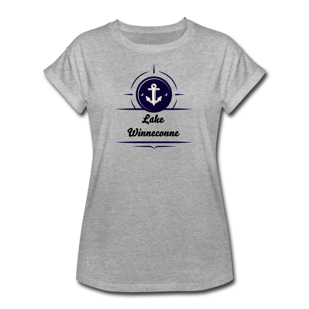 Anchor Lake Winneconne Women's Relaxed Fit Tee - heather gray