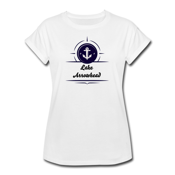 Anchor Lake Arrowhead Women's Relaxed Fit Tee - white