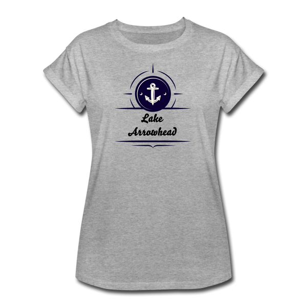 Anchor Lake Arrowhead Women's Relaxed Fit Tee - heather gray