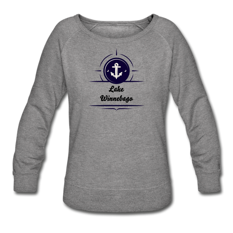 Anchor Lake Winnebago Women's Crewneck Sweatshirt - heather gray
