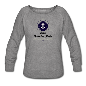 Anchor Lake Butte des Morts Women's Crewneck Sweatshirt - heather gray