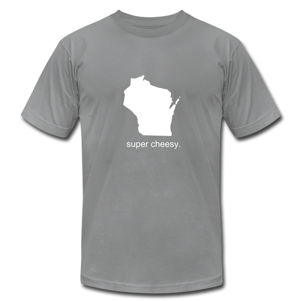 Super Cheesy WI Unisex Jersey Tee. - slate