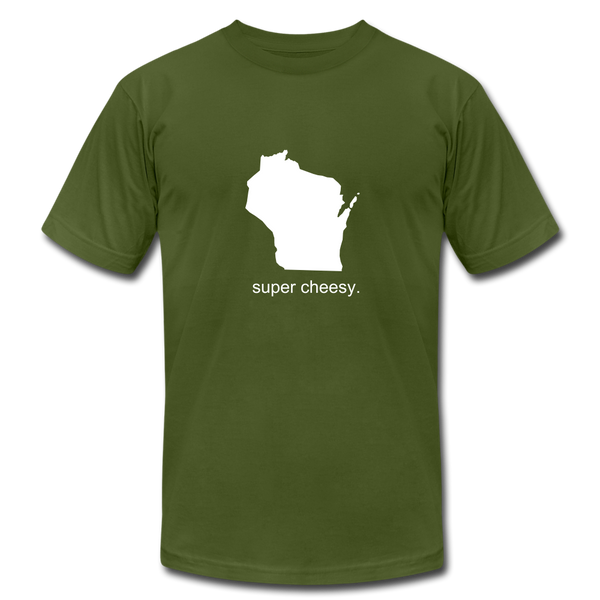 Super Cheesy WI Unisex Jersey Tee. - olive