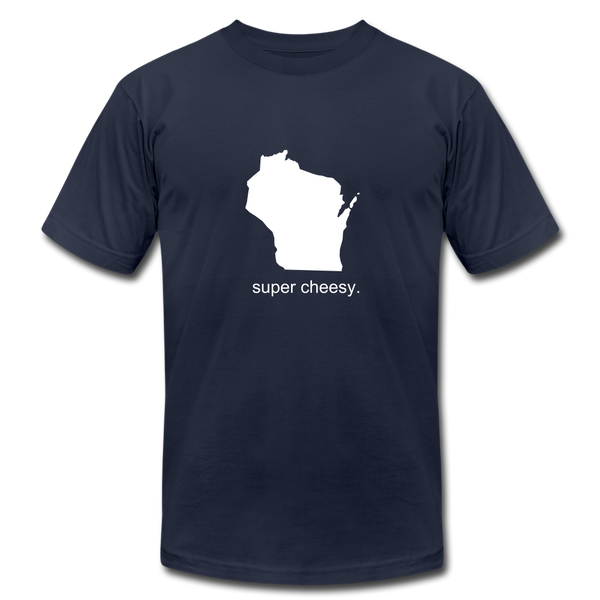 Super Cheesy WI Unisex Jersey Tee. - navy