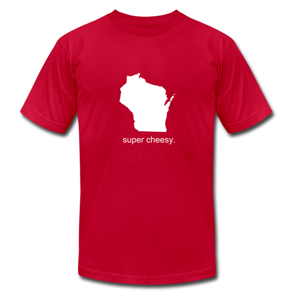 Super Cheesy WI Unisex Jersey Tee. - red