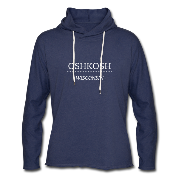 Oshkosh WI Unisex Lightweight Terry Hoodie - heather navy