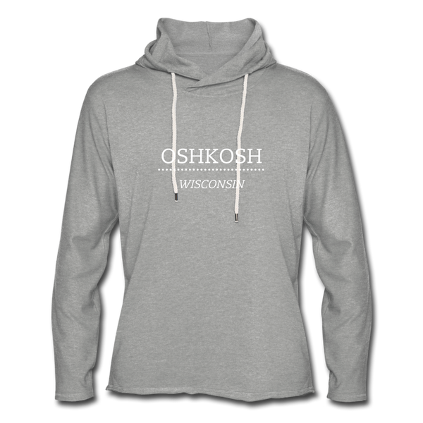 Oshkosh WI Unisex Lightweight Terry Hoodie - heather gray