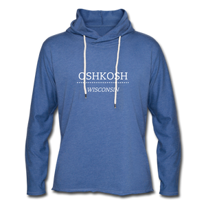 Oshkosh WI Unisex Lightweight Terry Hoodie - heather Blue