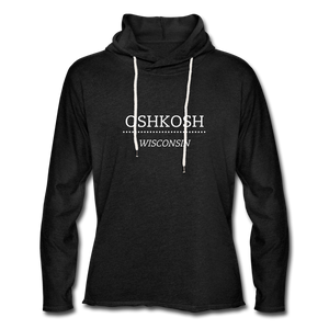 Oshkosh WI Unisex Lightweight Terry Hoodie - charcoal gray