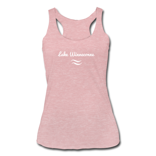 Lake Winneconne Tri-Blend Racerback Tank - heather dusty rose
